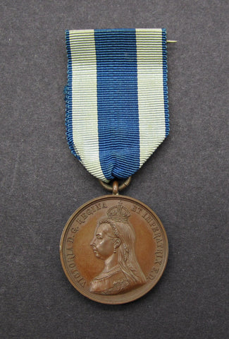 1897 Victoria Diamond Jubilee Bronze Medal On Ribbon By Emptmeyer - Cased