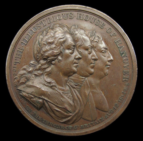 1814 Illustrious House of Hanover 50mm Medal - By Mossop