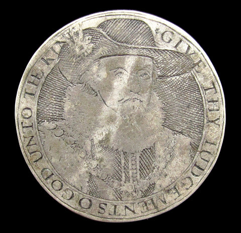 c.1616 James I & Prince Charles Silver Counter - Eimer 174