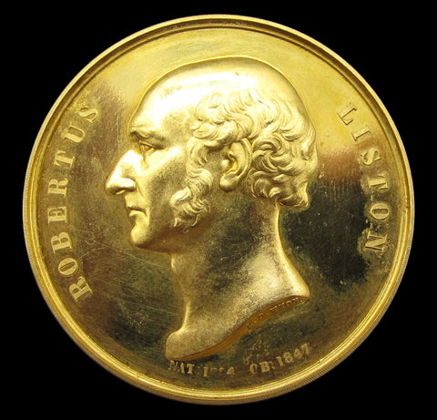 1847 University College London Robert Liston Gold Award Medal - By Wyon