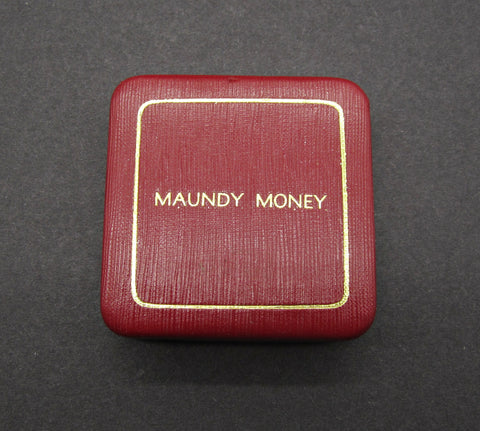 Maundy Money Red Hard Case For Four Coins