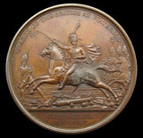 1815 Charge Of The British At Waterloo 41mm Medal - By Mills
