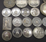 1896-1906 Group of 18 x Silver Photography Medals - Awarded To Wright Family
