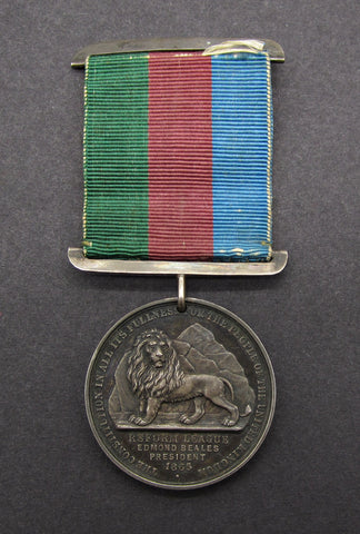 1865 The Reform League 44mm Silver Medal - By J.Moore