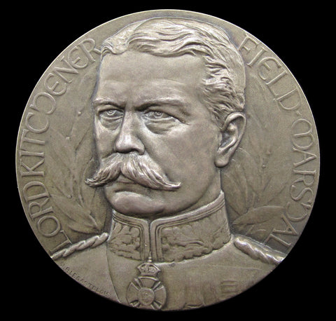 1916 Lord Kitchener Memorial 45mm Silver Medal - UNC