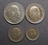 Edward VII 1910 Full Maundy Set - GEF