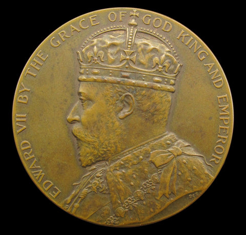 1910 Edward VII Board Of Education Science 38mm Bronze Medal - Cased