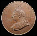 1897 Victoria Diamond Jubilee 76mm Bronze British Empire Medal - By Bowcher
