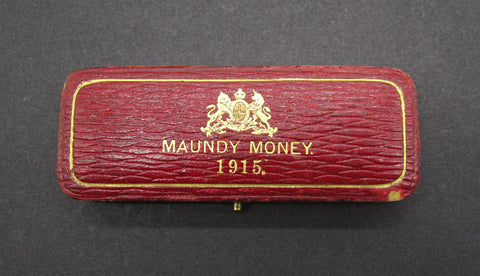 1915 Dated Hard Case For 4 Coin Maundy Set