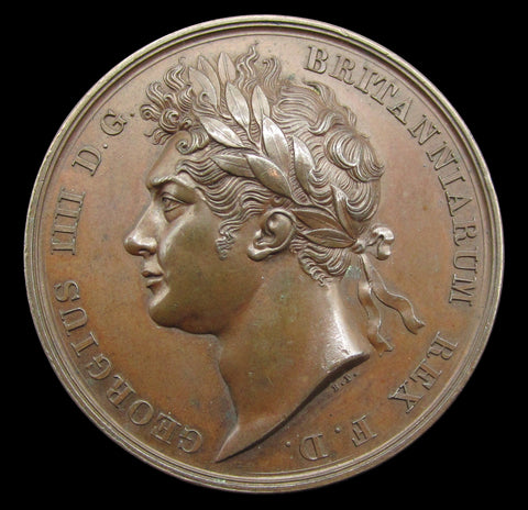 1821 Coronation Of George IV 35mm Bronze Medal - By Pistrucci