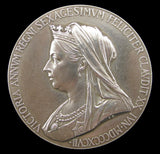 1897 Victoria Diamond Jubilee 56mm Silver Medal - Cased