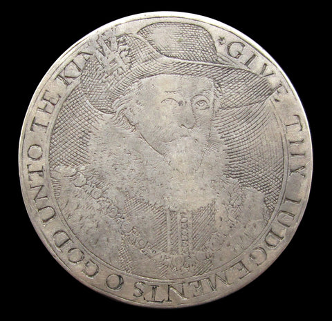 c.1616 James I & Prince Charles Silver Counter - VF