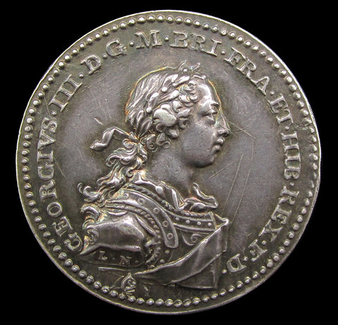 1761 Coronation Of George III Official Silver Medal - By Natter