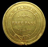East Indian Railway Company c.1887 Gold Free Pass Medal