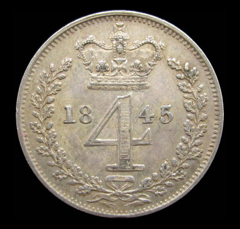 Victoria 1845 Maundy Fourpence - EF