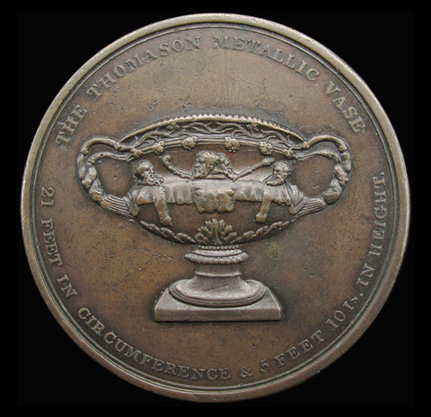 1829 Thomason's Medallic Vase 54mm Copper Medal