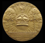 1902 Edward VII Coronation Bronze Medal By Frampton - Cased