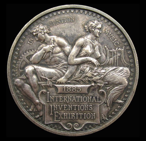 1885 International Inventions Exhibition Silver Medal - By Wyon