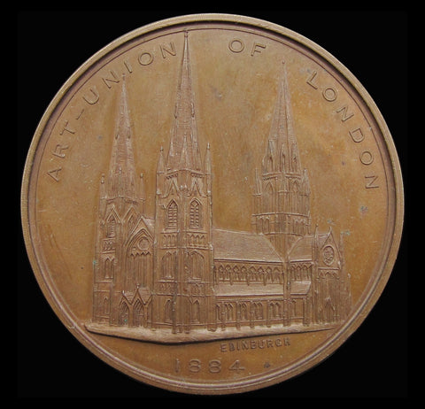 1884 George Gilbert Scott Art Union Of London Bronze Medal