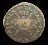 Ireland James II 1690 Gunmoney Shilling - NVF
