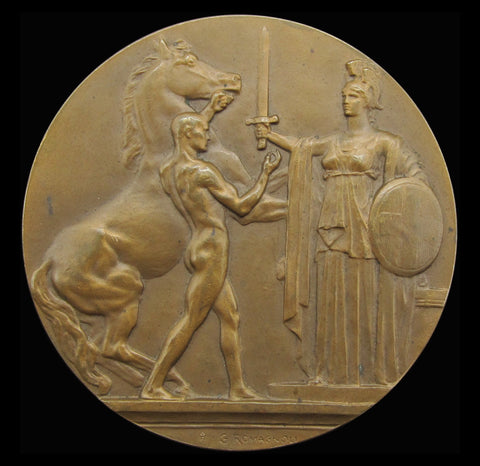 Italy 1915 Entry To The War 65mm Bronze Medal - By Romagnoli