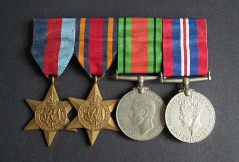 WWII Mounted Medal Group Of Four