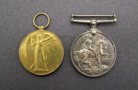 WWI British Medal & Victory Pair - Liverpool Regiment