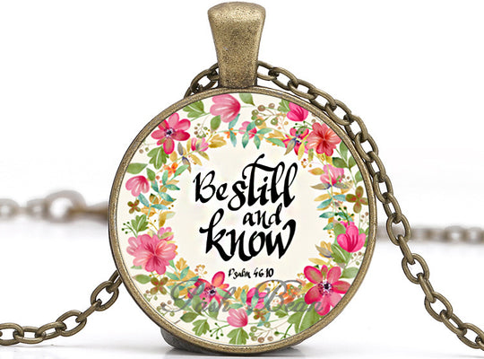 Be Still and Know 2 Necklace