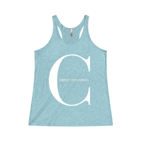 Christ Centered 2 Women's Tri-Blend Racerback Tank