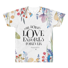 The Lord's Love Endures Forever All-Over Print Tee