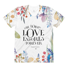 The Lord's Love Endures Forever Women's All-Over Print Tee