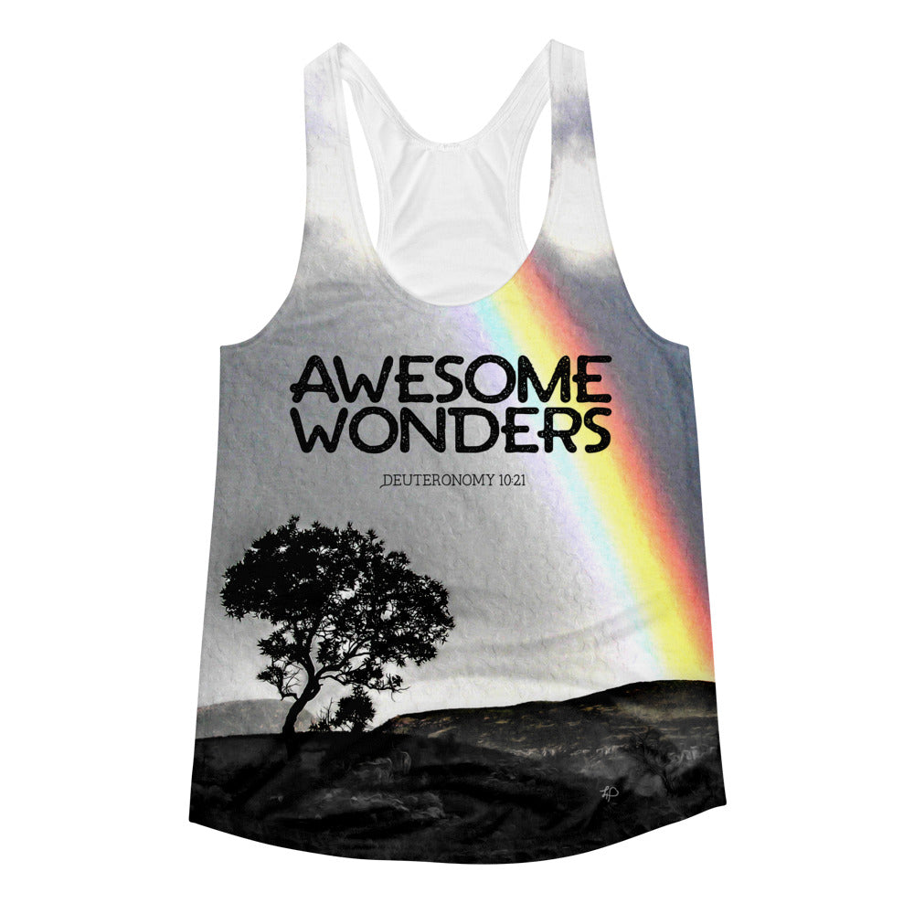 Awesome Wonders Women's All-Over Print Racerback Tank