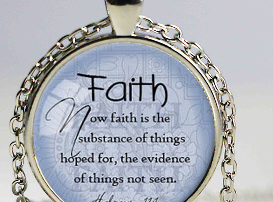 Faith Bible Verse Pendant Necklace