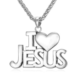 I Love Jesus Stainless Steel Necklace