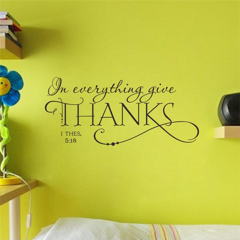 In Everything Give Thanks Wall Decal