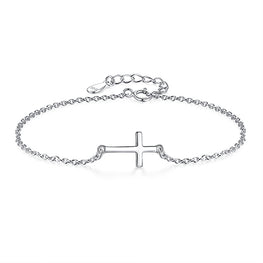 925 Sterling Silver Cross Charm Bracelet