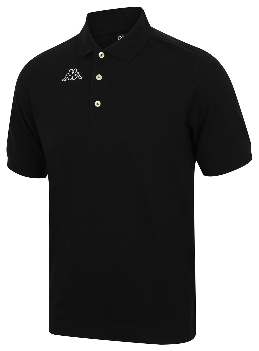 Kappa Mens Life Black Pure Pique Cotton Polo Shirt