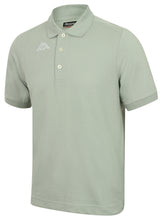 Kappa Mens Life Grey Green Pure Pique Cotton Polo Shirt