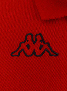 Kappa Mens Life Red Pure Pique Cotton Polo Shirt