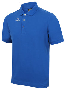Kappa Mens Life Blue Pure Pique Cotton Polo Shirt