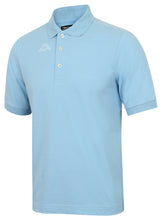 Kappa Mens Life Sky Blue Pure Pique Cotton Polo Shirt