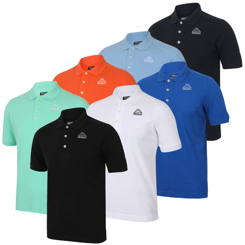 Kappa Mens Omini Pure Pique Cotton Sports Polo Shirt