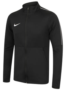 Nike Mens Dry Park 18 Dri-Fit Full Zip Track Jacket - AA2059-010 - Black Front Left