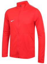 Nike Mens Dry Park 18 Dri-Fit Full Zip Track Jacket - AA2059-657 - Red Front Left