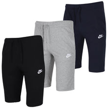 Nike Men's NSW Club 12 Inch Knee Length Cotton Jersey Shorts