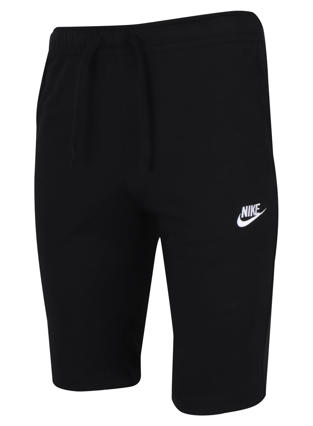 Nike Men's NSW Club Black 12 Inch Knee Length Cotton Jersey Shorts