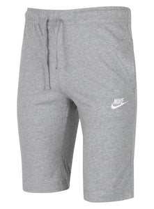 Nike Men's NSW Club Grey 12 Inch Knee Length Cotton Jersey Shorts