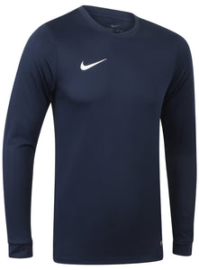 Nike Mens Park Dri-Fit Long Sleeve Football Training Shirt - 725884-410 - Navy - Front