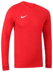 Nike Mens Park Dri-Fit Long Sleeve Football Training Shirt - 725884-657 - Red - Front
