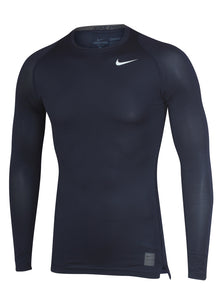 Nike Men's Pro Cool Navy DriFit Compression Long Sleeve Training Top